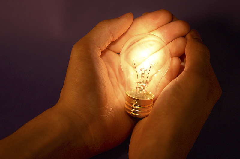 While the lighted bulb supposedly represents technological innovation, note that the bulb is a highly inefficient incandescnet light bulb, the sort that has been banned for energy conservation reasons in a small but growing number of countries like Australia and recently, China